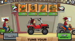 Hill Climb Racing 2 v 1.00 mod apk with unlimited coins and blue gems.