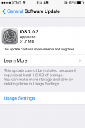 Download iOS 7.0.3 11B511 Update New iCloud Keychain feature added.