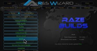 Install Raze Reborn Build on Kodi 17.3 Krypton.