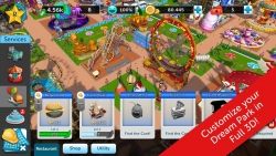 RollerCoaster Tycoon Touch v 1.2.21 Mod Apk with unlimited coins and money.