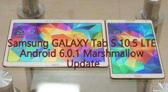 Update Galaxy Tab S 10.5 LTE SM-T805 to Android 6.0.1 Marshmallow [Build: T805XXU1CPH5]