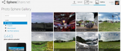How to post or share full 360 degree Sphere Photos online.