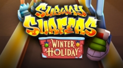 Subway Surfers Winter Holiday v 1.64.1 Mod Apk with unlimited coins and keys.