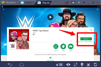 Download WWE Tap Mania for Windows 10 PC.