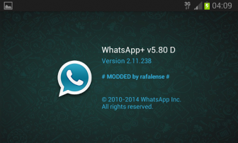 WhatsApp Plus v5.80 Apk Latest Modded version included. [July 2017]