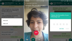 WhatsApp Messenger v 2.16.318 apk loaded with Video calling features.