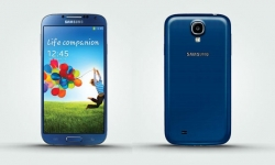 Samsung Galaxy S4 in Blue available at the Phone4U a UK online store.