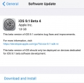 iOS 9.1 Beta 4 iPSW direct Download for iPhone, iPad and iPod Touch.