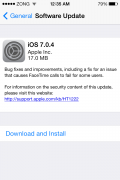 Download iOS 7.0.4 Update Now for your iPhone, iPad and iPod Touch. [ IPSW Setup file ]