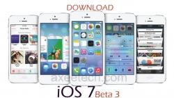 Download iOS7 Beta 3 on your iPhone 5, iPhone4S, iPhone4, iPad Mini and iPod.