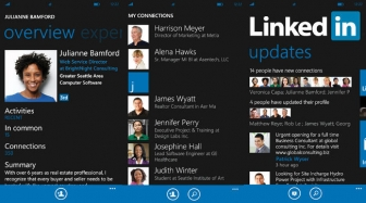 LinkedIn for Windows Phone updated with new features.