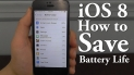 Top 10 Battery Saving tips iOS 8 for iPhone 4S, iPhone 5, iPhone 5S, iPhone 5C.