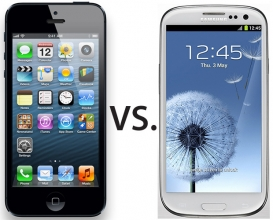 Apple iPhone 5 Vs Samsung Galaxy SIII, full specs chart.