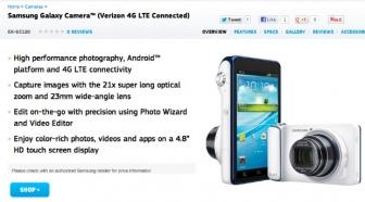 The Verizon's Samsung Galaxy Camera Receives an update to VRAMC4.