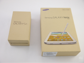 Samsung shipping Galaxy S4 and Galaxy Note 8.0 tablet in full recyclable boxes.