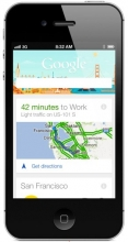 Download Google Now on your iPhone.
